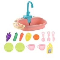 electric 14pcsset easy using detachable miniature dishwasher toy delicate craft for gift