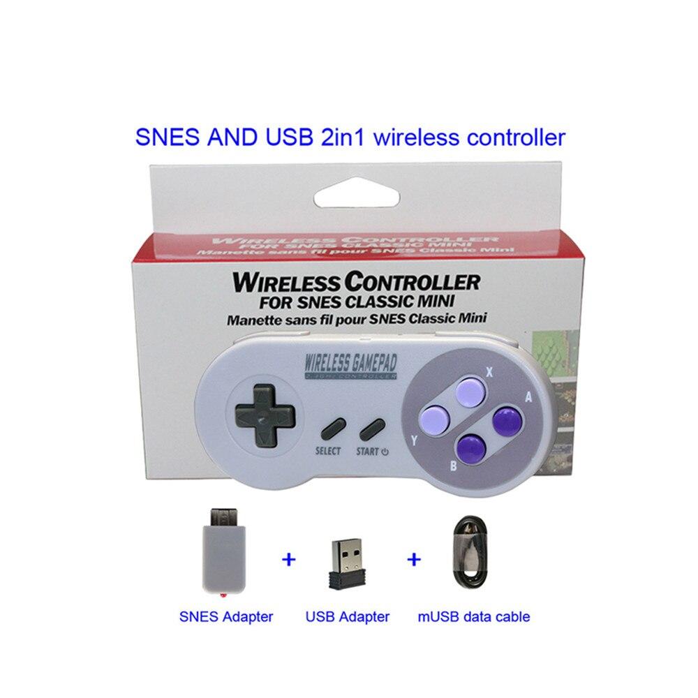 100pcs 2.4GHZ Wireless Controller remote Gamepads Joypad Joystick for SNES Super Nintend Classic MINI Console