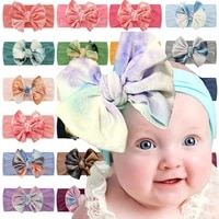 knot bow headwear one size fit most turban soft elastic baby solid color hairband golden velvet baby headbands hair accessories