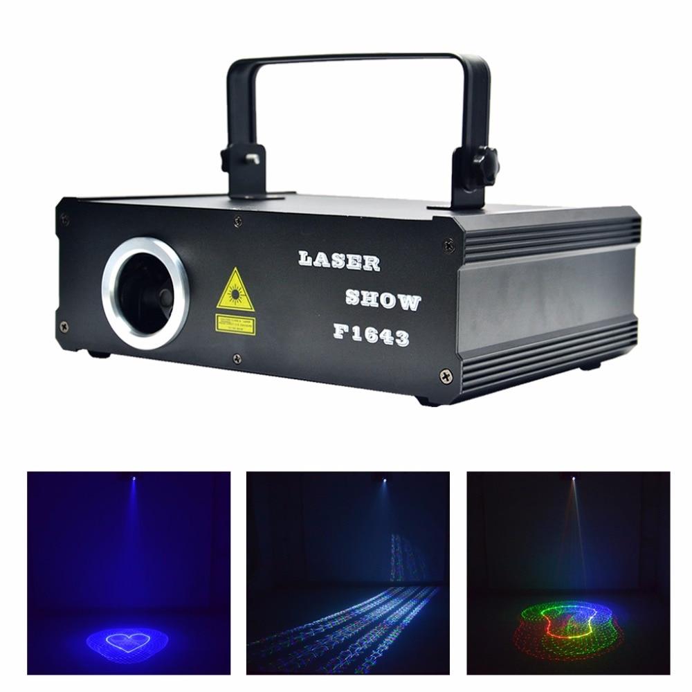 AUCD 2D 3D Animation Patterns Kaleidoscope 500mW RGB Projector Laser DMX Lights Beam Scan PRO DJ Party Show Stage Lighting DG5F5