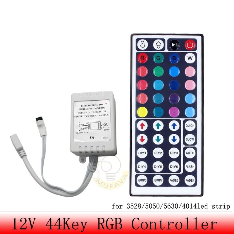 Led Controller 44 keys 24 keys LED IR RGB luces controller LED IR Remote Control DC12V Control for RGB LED Strip Light