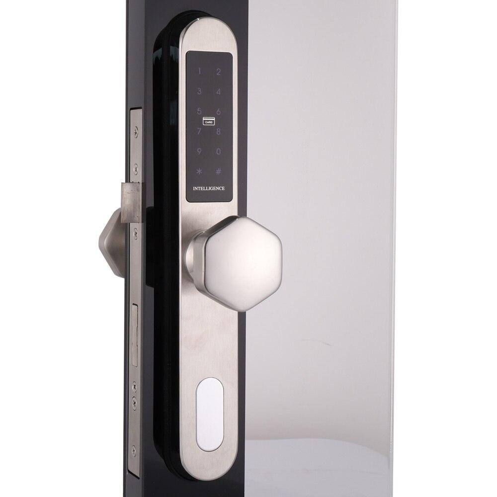 Smart Home Waterproof electronic Digital door lock,Keyless Smart Sliding Code Door Lock for Aluminum Glass Door with 3585 morti