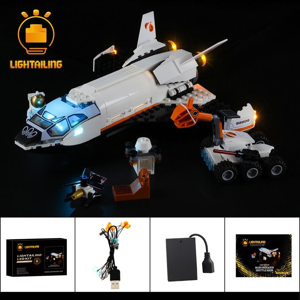 LIGHTAILING Kit de luz LED para 60226 Series de la ciudad Mar investigación transporte al juguetes de bloques de construcción de iluminación
