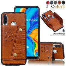 Licht Card Houders Wallet Case Voor Huawei P30 Pro P20 Mate 20 30 Pro P20 Lite 2019 Honor 20 9X lederen Card Pocket Back Cover