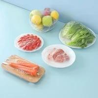 100pcs bag preservative film reusable film for food storage elastic food storage bag bowl with stretch cover kitchen utensil