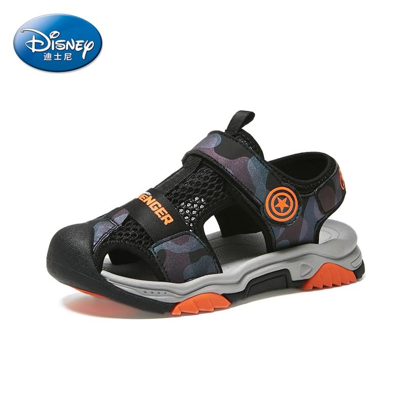 Marvel Avengers Captain America Children's Baotou Sandals Sports Sandals Breathable Non-slip Outdoor Beach Shoes