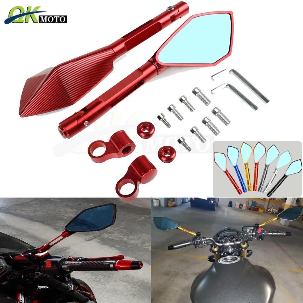 Universal moto rcycle 6/6 MM 8MM 10MM tornillo moto aluminio CNC retrovisor espejo lateral para Honda CBR 600RR 1000RR nc750x X NC7500S cb650f