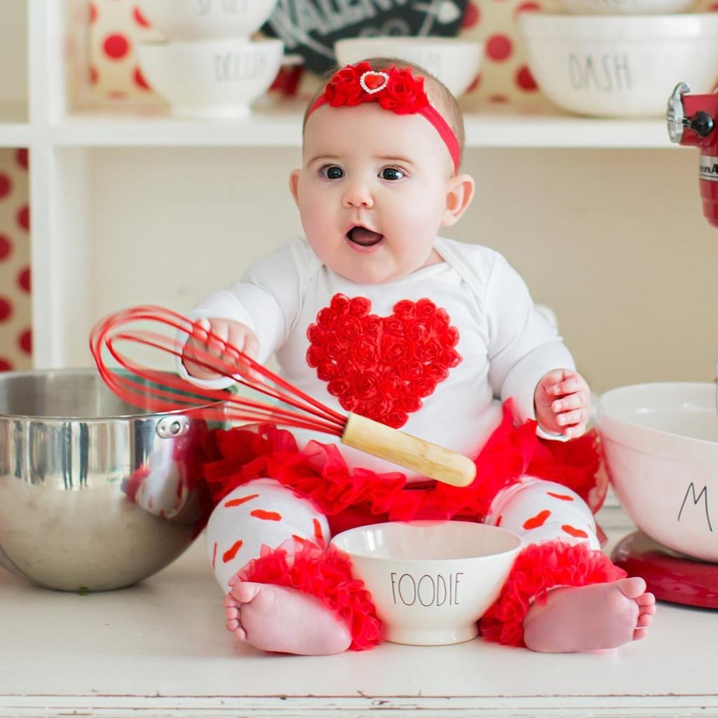 Traje de san Valentín para bebés y bebés, camisetas para el Día de san Valentín, faldas tutú de tul, conjunto de ropa bebé san Valentín