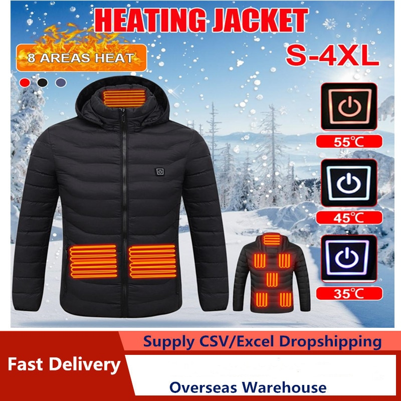 2020 Heated Jackets Heat Coat USB Electric Thermal Clothing coat Infrared Heating...