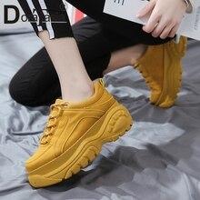 DORATASIA mode fille haute plate-forme baskets chaude automne espadrilles décontractées femmes Cool à lacets chaussures hautes femme