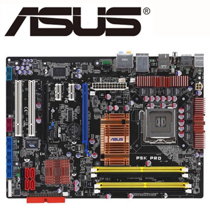 ASUS P5K PRO Материнская плата LGA 775 DDR2 для Intel P35 P5K PRO настольная материнская плата ATX системная плата SATA II PCI-E X16 USB б/у