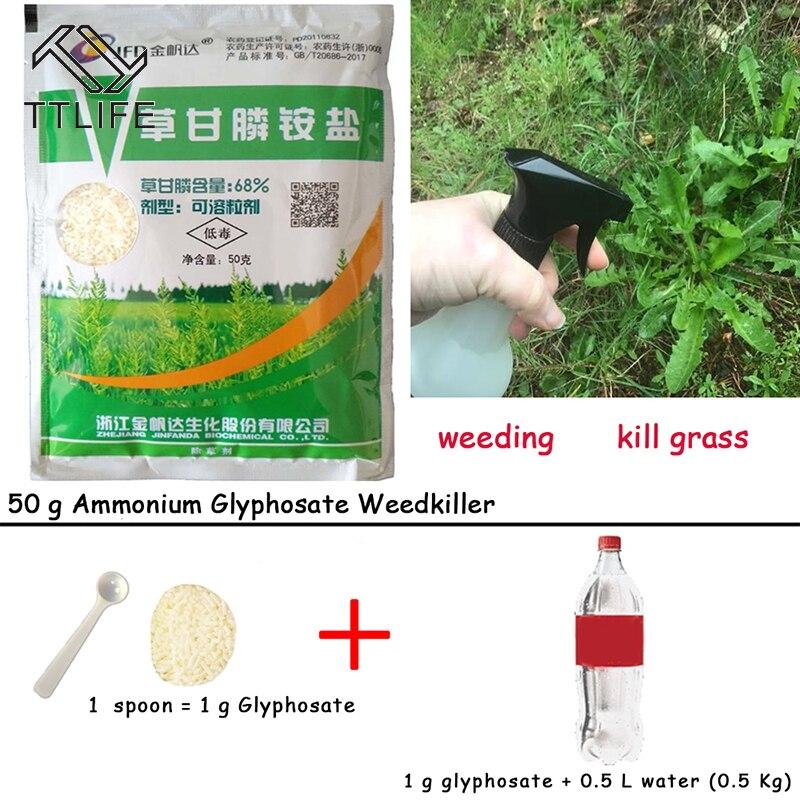 TTLIFE 50g kaldırmak geniş yapraklı ot öldür çimen yaprak sprey ot öldürücü amonyum glifosat glisin herbisit kaldırma geniş yapraklı tohumları