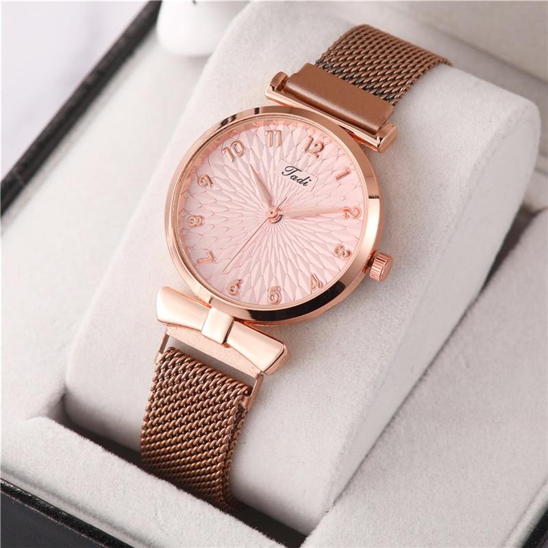 Reloj femenino 2020, nueva moda, relojes para Mujer, Reloj de pulsera de cuarzo analógico, relojes de vestir para Mujer
