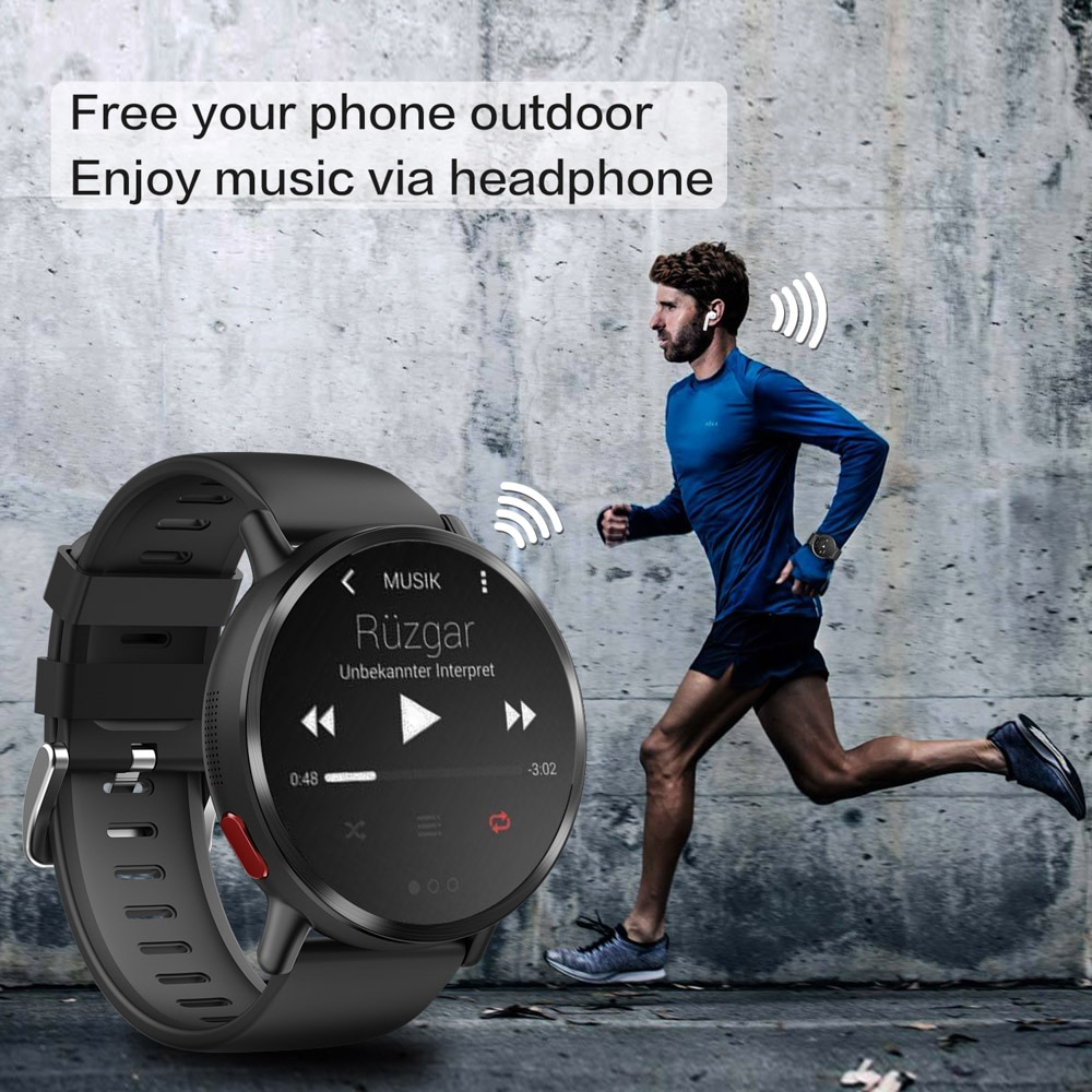 DM19 4G Smart Watch 2.03 Inch Round Screen MTK6739 Quad Core Android 7.1 OS 16GB Rom 8MP Camera GPS WIFI Bluetooth Smartwatch