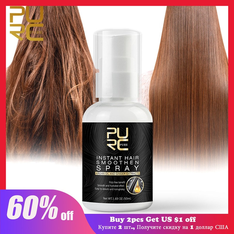PURC Morocco Argan Oil Hair Care Spray Smooth for Hair Damaged Repair Hair Scalp Care Hair Products