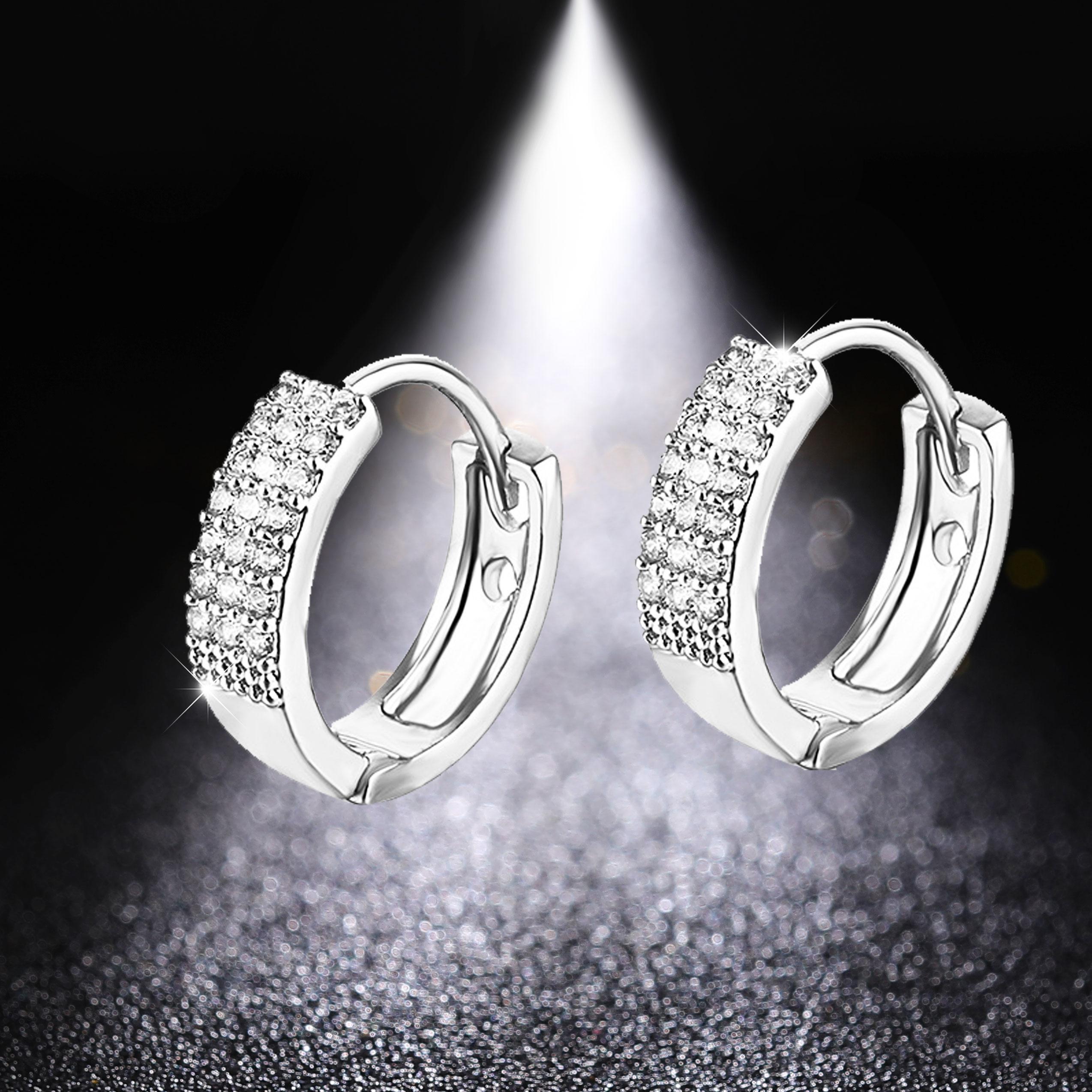 Серьги HUAMI из розового золота и серебра, простые серьги с геометрическим рисунком, оптовая цена от производителя, свадебные аксессуары для ж...