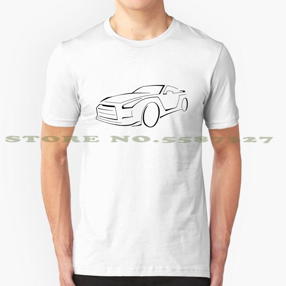 Ниссан Gtr Graphic (черный) крутой дизайн модная футболка тройник Ниссан Gtr спортивный автомобиль суперкар автомобильный транспорт гонки