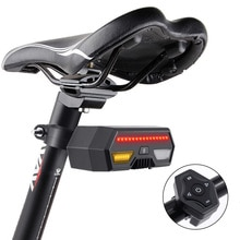 Wireless Smart Bike Tail Remote Controller Signals USB Rechargeable LED Bicycle Turn Lights Mountain Road
