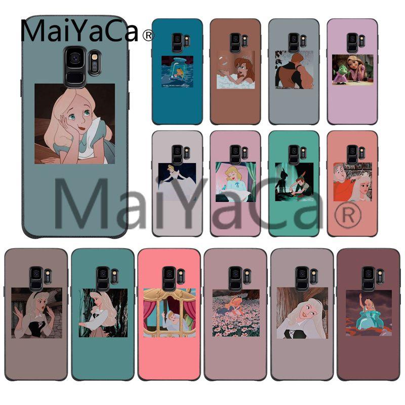 MaiYaCa, funda suave para teléfono de princesa de dibujos animados Alice Elysian Cinderella para Samsung Galaxy S7edge S6 edge plus S10 S8 S7 S9 Plus