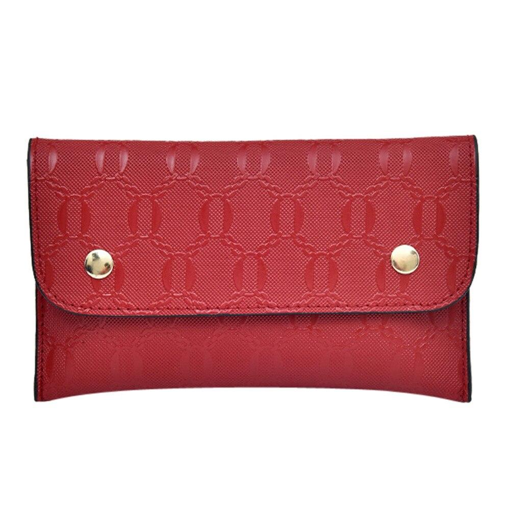2019 nueva moda mujer cintura bolsa Color puro cuadrado Softback cuero Artificial mensajero riñonera bolsa pecho Mujer Pochete