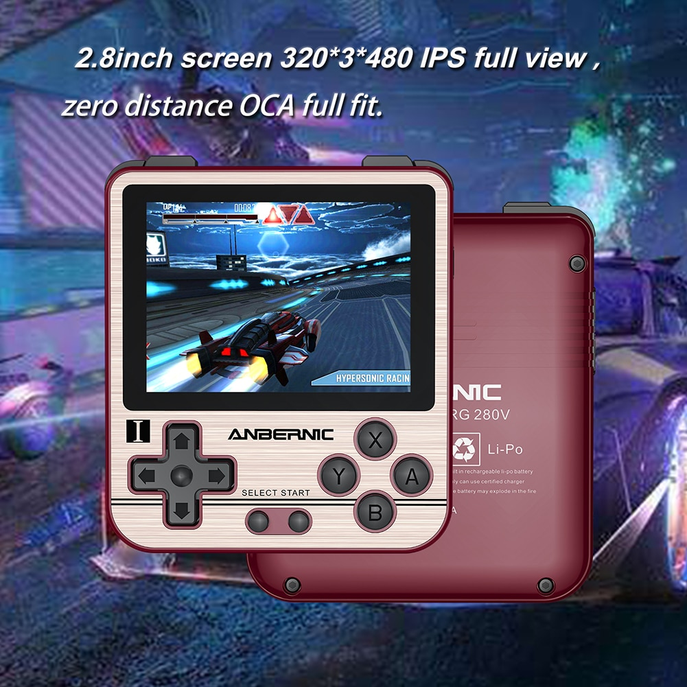 ANBERNIC RG280V Pocket Retro Game Console Adults Handheld Mini Gaming Player 16GB 32GB Mini Handheld Gaming Player