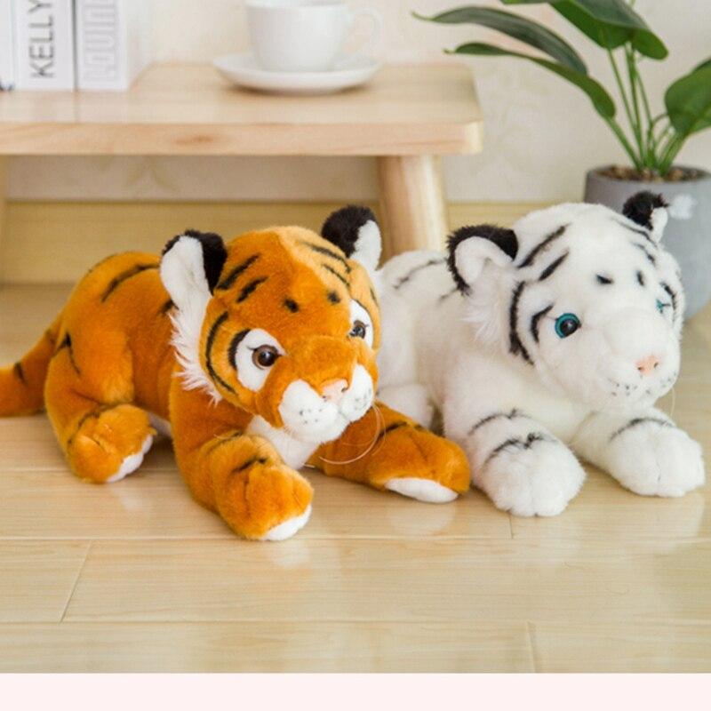 Animais de pelúcia macio tigre brinquedos de pelúcia travesseiro animal dos desenhos animados tigre peluche kawaii boneca algodão bebê brinquedos para crianças