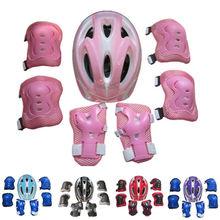 Garçons filles enfants casque de sécurité genou coude vélo Skate enfants Scooter casque de vélo genouillères coudières poignet Support cadeau