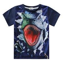 3D Baby Jungen Kleidung Jurassic T shirt Kinder Lustige Dinosaurier Gedruckt Dino T-shirt Cartoon Kleinkind Kinder Casual Sommer Tops
