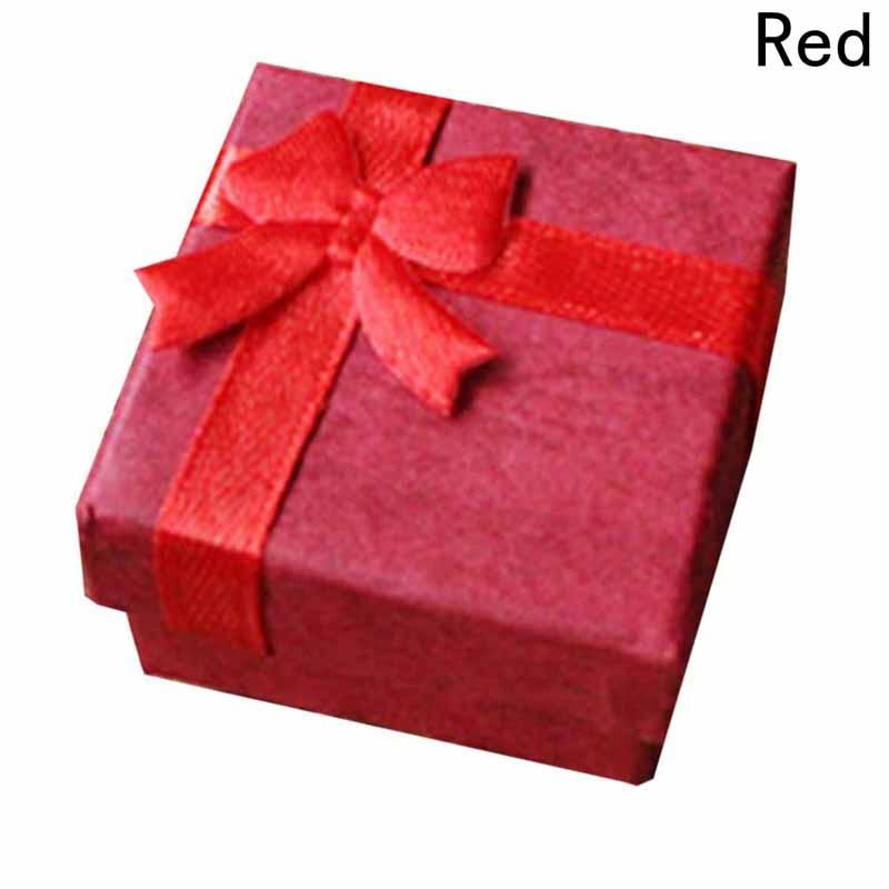 Cajas de Regalo brazalete joyería anillo pendiente reloj de regalo caja de cartón Bowknot caja de joyería paquete organizador de maquillaje 4X4 cm X 3 cm