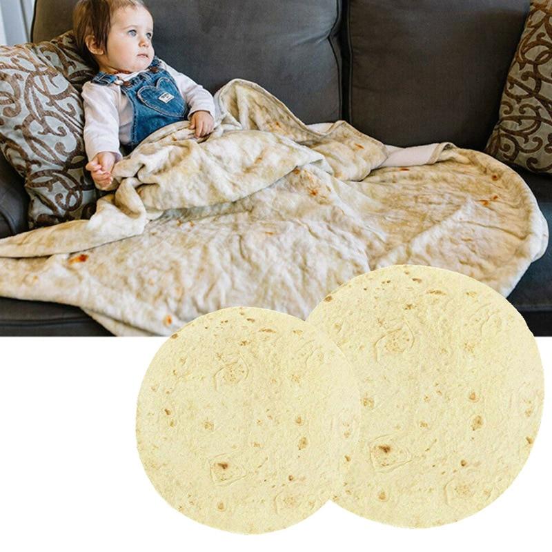 Manta de Burrito mexicano, colcha de terciopelo Coral para oficina, aire acondicionado, colcha para siesta, Sábana de cama, manta de franela de panqueque de maíz portátil