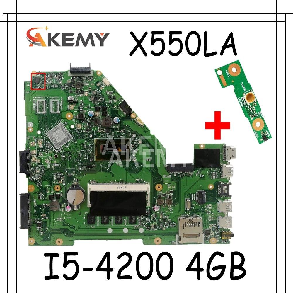 X550LA Motherboard I5-4200 CPU 4GB RAM Für For Asus A550L X550 X550L X550LD R510L X550LC laptop Motherboard X550LA Mainboard Test OK