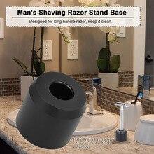 Mans Shaving Razor Stand Base Long Handle Razor Stand Holder Aluminum Alloy Safety Shaving Razor Accessory