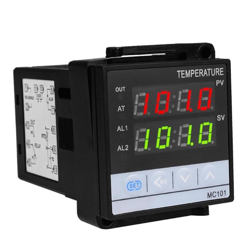 2in1 relé + ssr saída pid termostato controlador de temperatura ℃/controller para entrada universal k, e, j, n, s, r, t, b termopar pt100 rtd wat