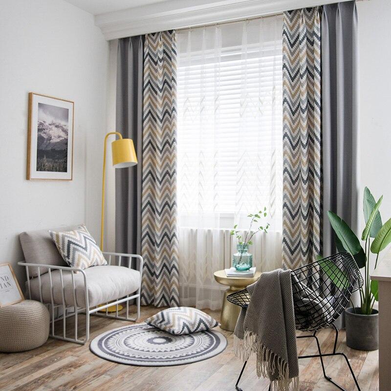 ZRcortinas بسيطة نمط خياطة الستائر فو القطن الكتان ستائر التعتيم ستارة نافذة غرفة المعيشة لغرفة النوم
