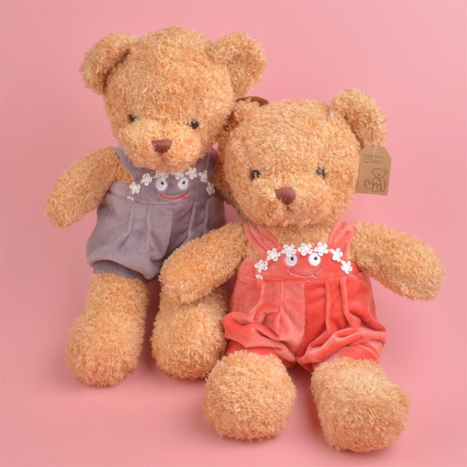 Pantalones de 35cm colores oso animales lindo bebé/niños cumpleaños, regalo de Navidad, muñeco de peluche envío gratis