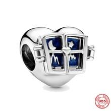 Leuxry 2021 New 925 Sterling Silver Moon Star Charm Beads For Women Gift Fits Original Pandora Charm