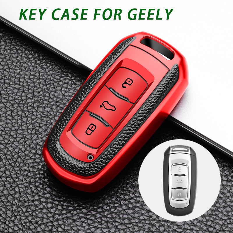 TPU Car Remote Key Case Cover For Car Geely Atlas Boyue NL3 EX7 Emgrand X7 EmgrarandX7 SUV GT GC9 borui Car remote key case