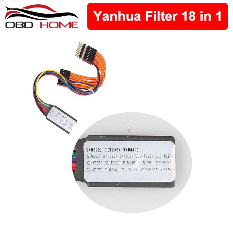 Obd2 acessórios do carro yanhua mb pode filtrar 18 em 1 ajuste odômetro universal pode filtro para benz/para bmw frete grátis