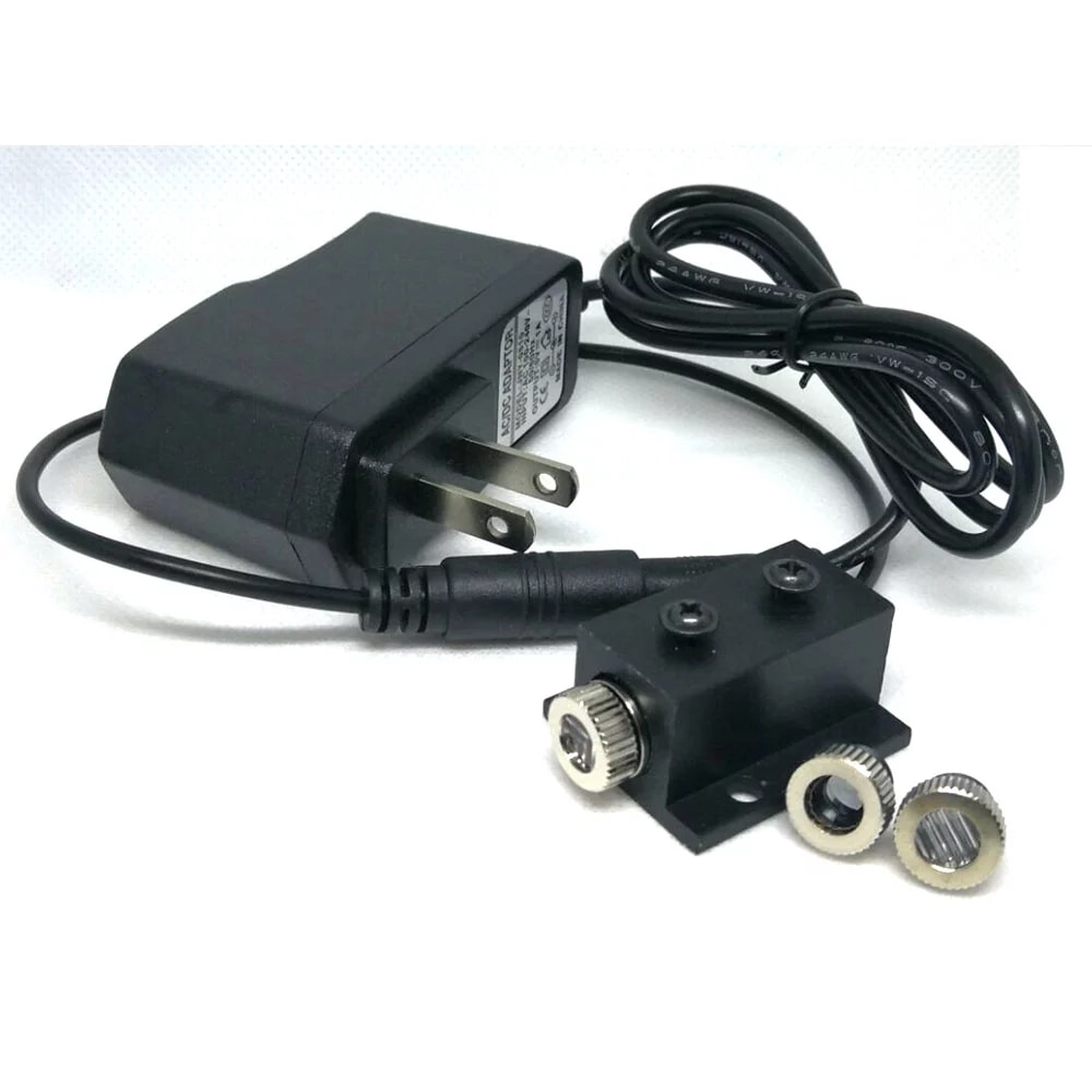 650 нм 5 мВт +Focus Dot Line Cross Point Red Diode Laser Module Positioning Focusable LED Lights W AC Adapter W 12mm Black Радиатор