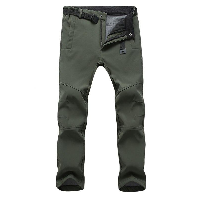 Мужские зимние теплые флисовые брюки, спортивные брюки, эластичные водонепроницаемые штаны, мужские теплые длинные брюки с Акулий кожей, му...