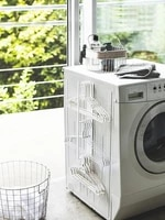 hanger storage washing machine side hanging wall rack magnetic bathroom clothes finishing