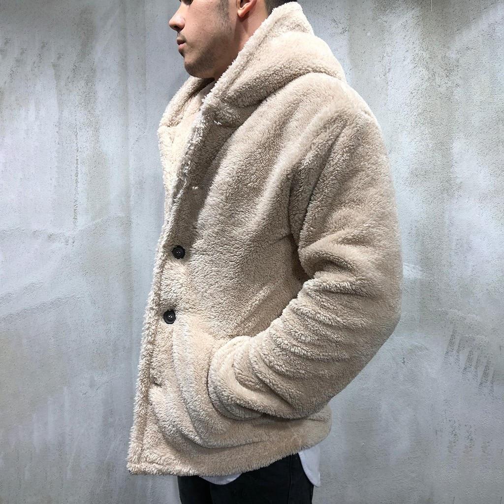 Chaqueta para Hombre, Otoño Invierno, cárdigan de Color sólido, Chaqueta informal para Hombre, Tops de lana, abrigo, Chaquetas para Hombre, novedad 2019