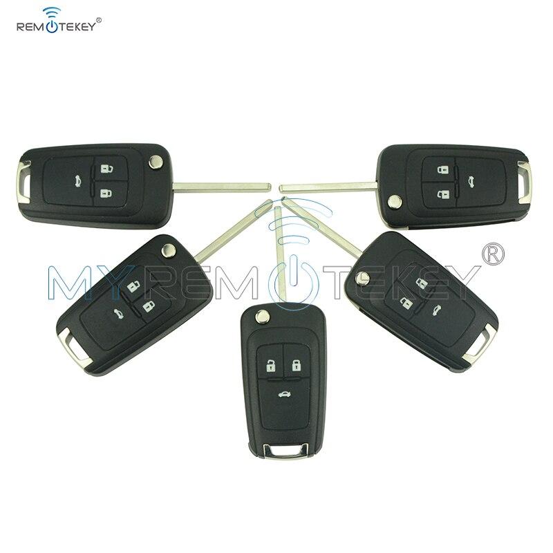 5 uds Flip carcasa de llave a distancia de coche para Chevrolet Aveo Cruze Orlando 2011 de 2012 de 2013 HU100 3 Tecla de botón cubierta de reemplazo remtekey