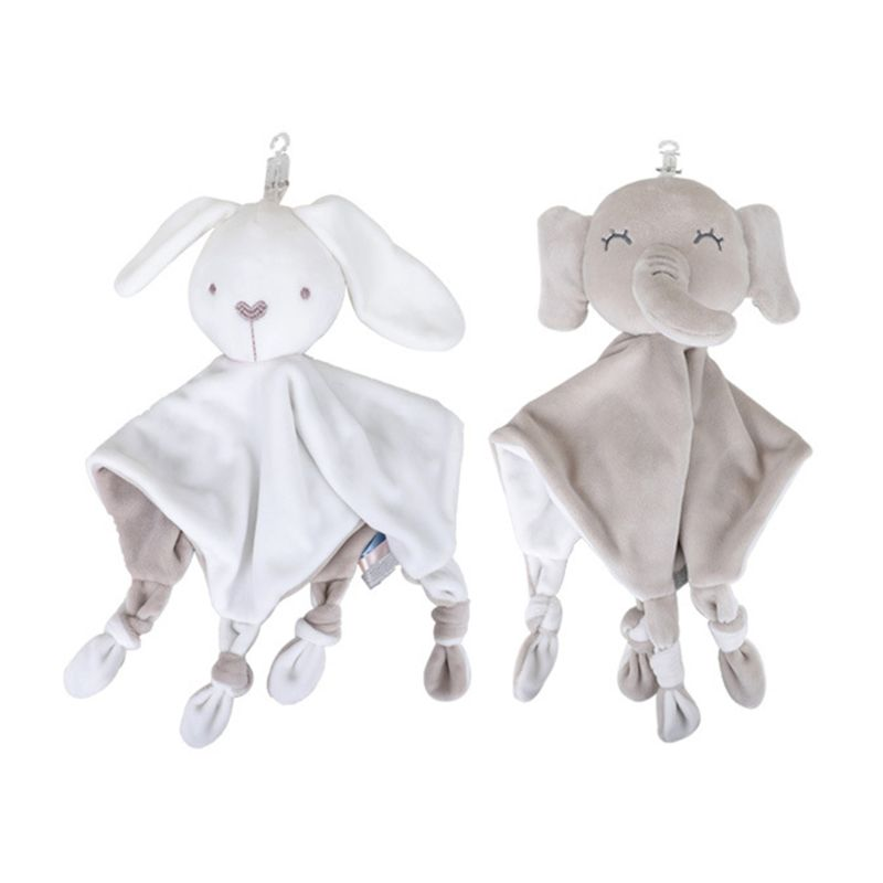 Bebé chupete apaciguar toalla suave muñeco de peluche Animal mordedor de dormir para bebés de peluche de juguete
