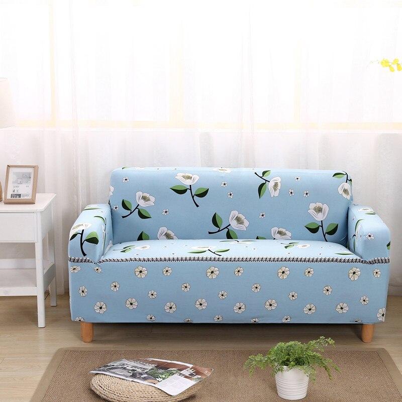 Cubierta De sofá De flores funda elástica Housse De Canape Extensible todo incluido simple/dos/tres/cuatro -asiento para sala de estar