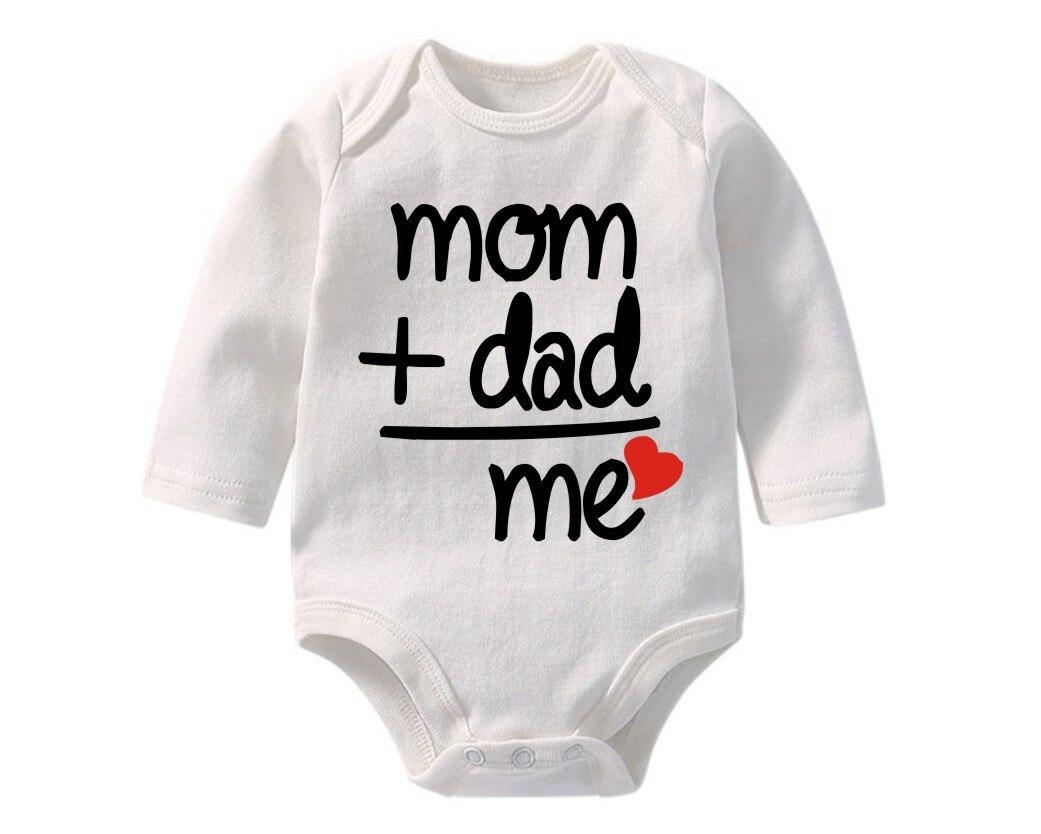 Algodón poliéster ropa para bebé recién nacido bebé mamá papá me estampado manga larga mono pelele para bebé onesie BR-1901
