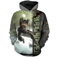 autumn fashion hoodies 3d full printing paratrooper sweatshirt unisex casual harajuku zip jacket z15