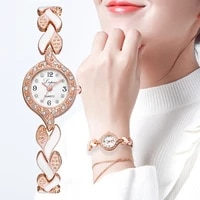 lvpai brand new bracelet watches women luxury crystal dress wristwatches clock womens fashion casual quartz watch reloj mujer