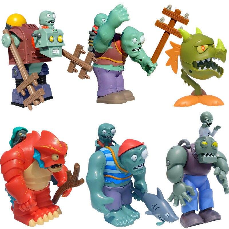 Игрушки «Растения против Зомби», новинка, одиночная большая игрушка для глубоководного регби, зомби, мягкая резиновая пушка-кукуруза, стрел...