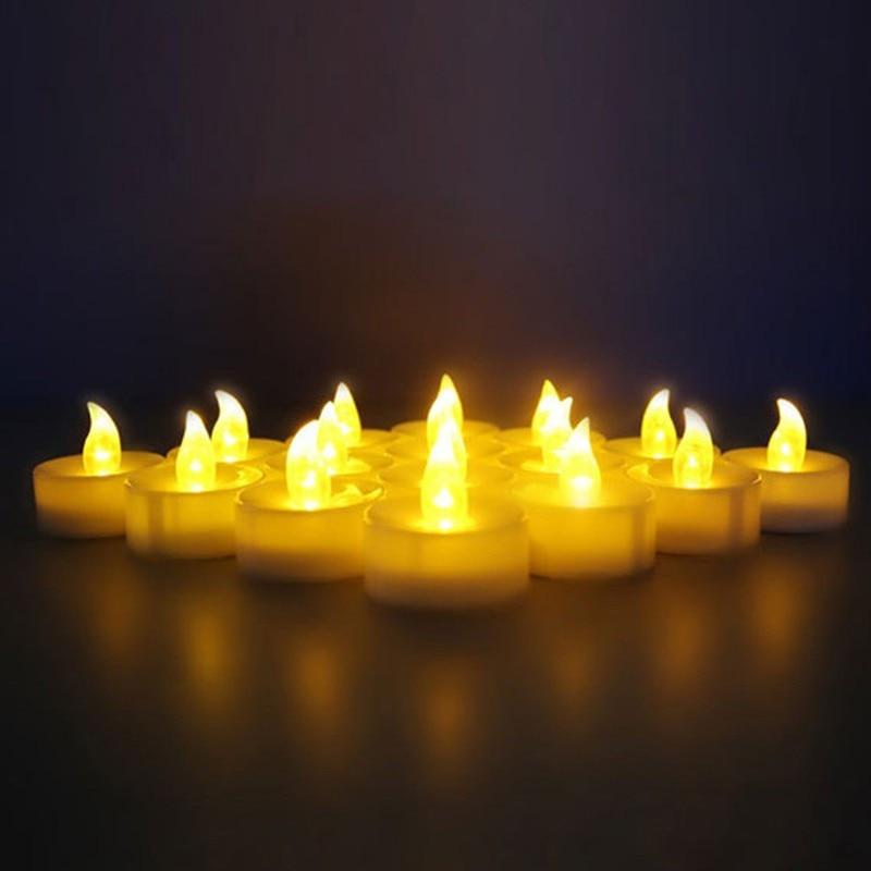 Velas de luz LED con batería electrónica, velas realistas sin llama para...